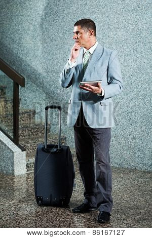 Businessman traveling