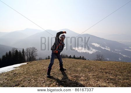 Girl On Mountain