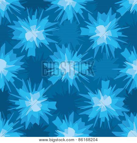 Scratchy blue blot seamless pattern