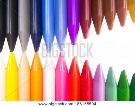 full color crayon head to head mouth full open