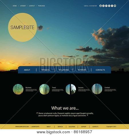Website Design for Your Business with Sunset Photo Background