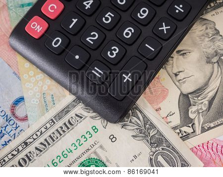 selective focus image of, money and others.