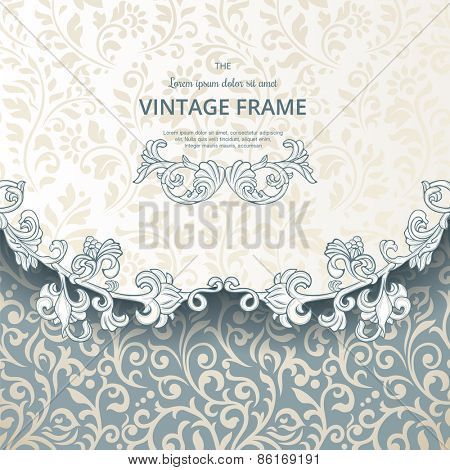 Vintage seamless pattern with flourish elements