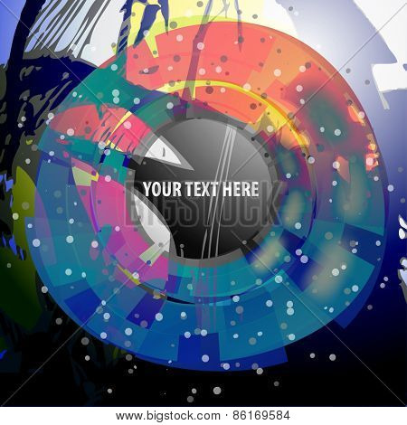 Abstract Colorful Artistic Background Concept, Label Template Design with Place for Your Text
