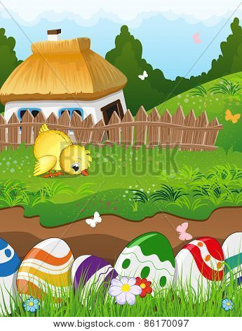 Easter Rural Landscape