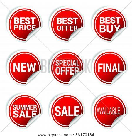 Sticker Best Offer Color Vector