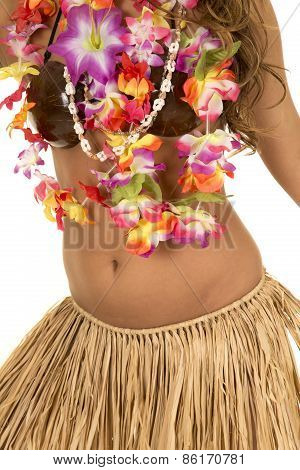 Hawaiian Woman In Coconut Bra And Grass Skirt Body