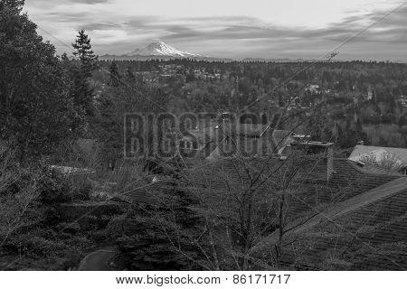 Majestic Mount Seen From A Neighborhood 2