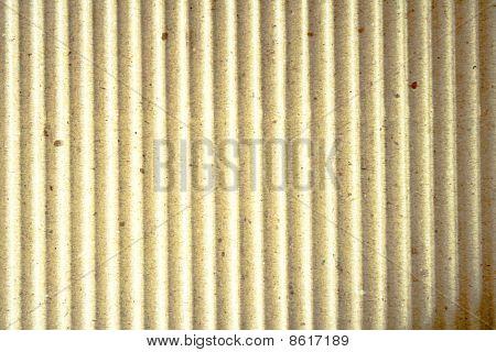 Corrugated paper.