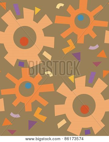 Rusty Abstract Gears Pattern