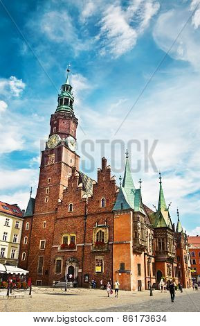 The Ancient Town Hall In Wroclaw,