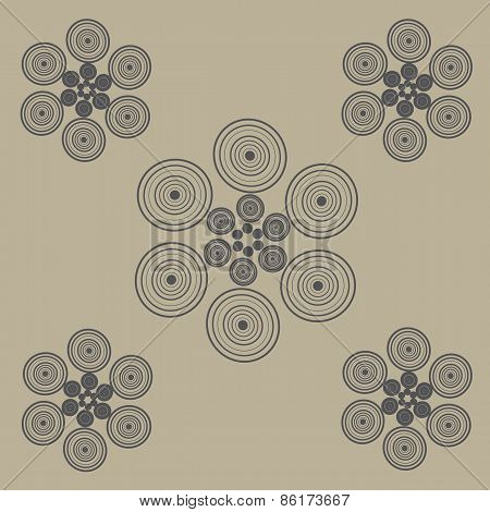 Circles On Brown