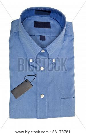 Nice New Men's Blue Dress Shirt Isolated