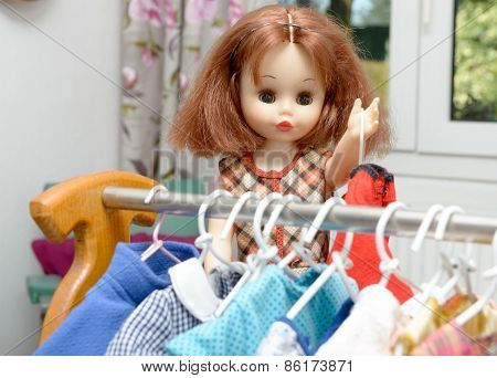 Doll With Red Hair And Dresses