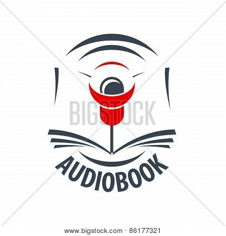 Vector Icon Audiobook With A Red Speaker