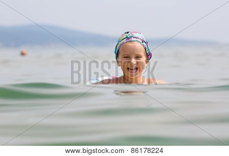 Happy Child And The Sea