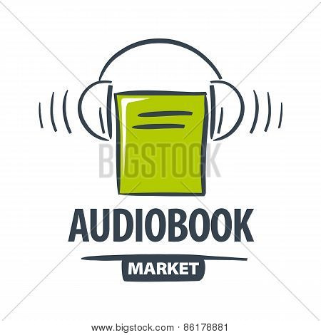 Vector Icon Green Book With Headphones