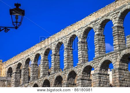 landmarks of Spain - roman aqueduct in Segovia