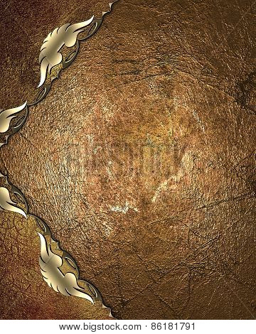 Abstract Template For Design. Grunge Pattern Of Copper