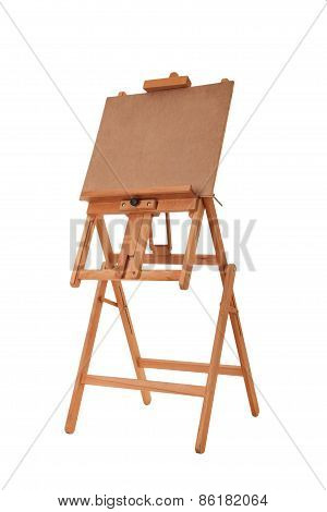 Wooden easel isolated