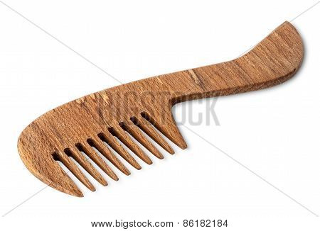 Brown Wooden Comb For Hair