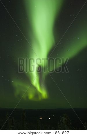 Vertical Aurora Borealis Stripe