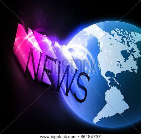 3d colorful news