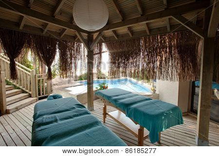 Massage and spa treatment room. Side, Turkey