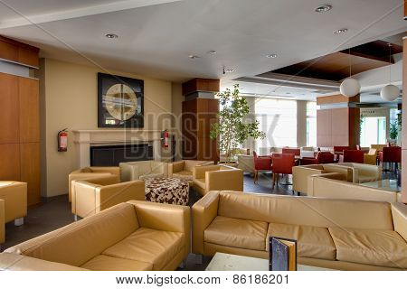 Interiro of cozy room in residential complex