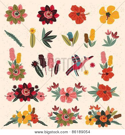 Vintage Flower Elements 2