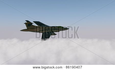 pair military aircraft above clouds