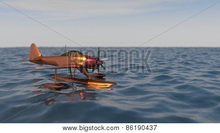 hydroplane on sea water