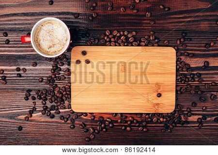 coffee and place for text