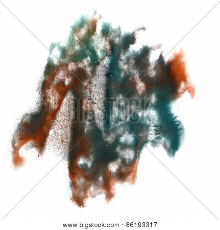 abstract hand brown, marsh drawn watercolor blot insult Rorschac