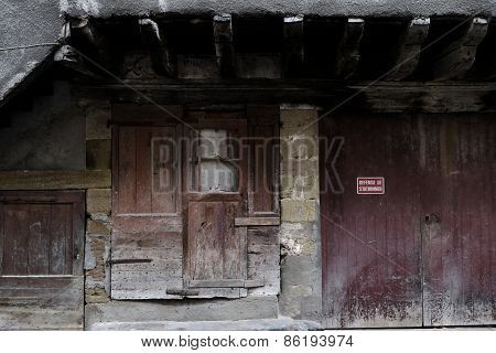 Old Red Doors At Beaulieu-sur-dordogne