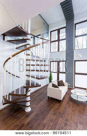 Spiral Stairs In Luxury Mansion