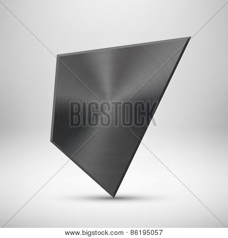 Black Abstract Geometric Button Template