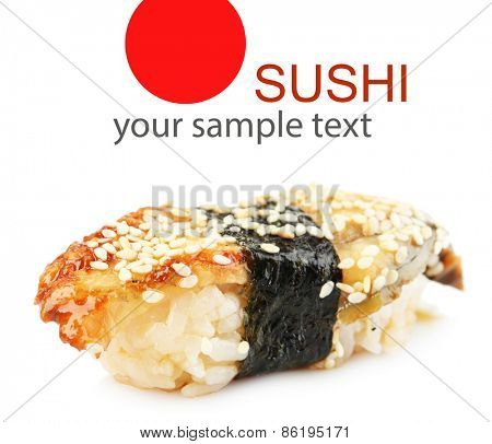Sushi isolated on white