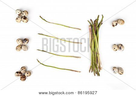 Wild Asparagus And Quail Eggs