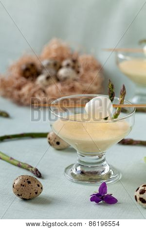 Quail Eggs In Mustard Mayonnaise