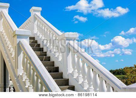 Classic White Stairway