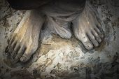 stock photo of jesus  - Marble sculpture depicting Jesus - JPG