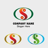 picture of yin  - Abstract vector S letter sign design template - JPG