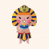image of pharaoh  - Pharaoh Theme Elements Vector - JPG
