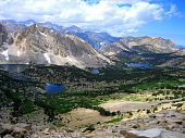 foto of mt whitney  - A mountainous valley on a hike up to Mt - JPG