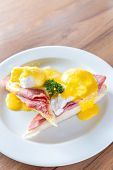 picture of benediction  - Eggs Benedict breakfast - JPG