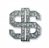 foto of gangsta  - Diamond studded dollar sign bling jewelry - JPG