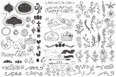 picture of budge  - Doodles easter decor elements set - JPG