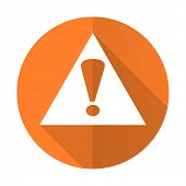 picture of orange  - exclamation sign orange flat icon warning sign alert symbol