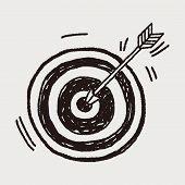 foto of archery  - Doodle Archery - JPG